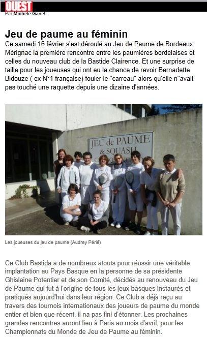 Sud-Ouest - Gironde du 19/02/2013 dans Presse tournoi-feminin-20131